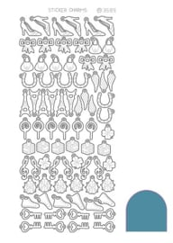 Sticker Charm Lucky - Mirror Turquoise