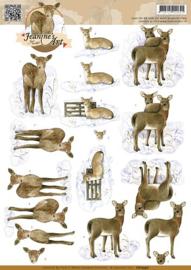 3D Knipvel - Jeanines Art - Deer CD10590