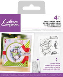 Crafter's Companion - Clearstamp Pinquin - Dance in the snow