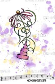 Katzelkraft - Solo Flower - Rubber Stamp - SOLO156