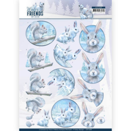 3D Knipvel - Amy Design - Winter Friends - Arctic Friends