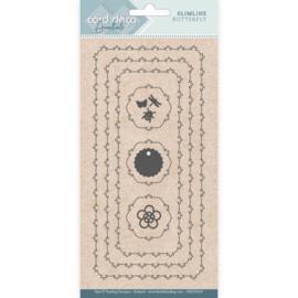 Card Deco Essentials - CDECD0107 - Slimline Dies - Slimline Butterfly