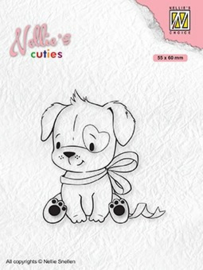"""Nellie's Christmas cuties """"Dogs with Christmas bow"""" NCCS015"""