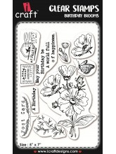 iCraft - Clear Stempel - Birthday blooms