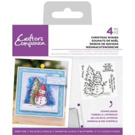 Crafter's Companion Clearstamp Snowman- Christmas Wishes