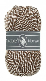 Durable Norwool Donkerbruin wit melee