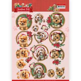 Amy Design -  3D Knipvel - Christmas Pets - Christmas dogs CD11529