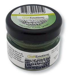 CraftEmotions Wax Paste metallic - groen 'turtle' 20 ml