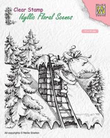 """Nellie snellen IFS018 Idyllic Floral scenes """"Santa Claus at work"""" 95x107mm"""