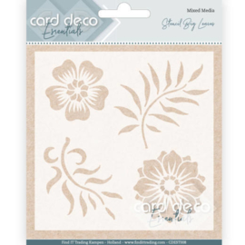 Card Deco Essentials - Stencil Big Leaves
