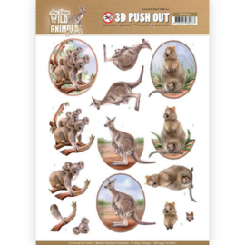 Amy Design  - 3D Pushout - Wild Animals Outback - Kangaroo SB10442-HJ18201