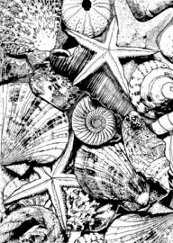 Crafty Individuals CI-496 Seaside Treasures Unmounted Rubber Stamps