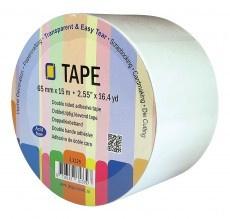 JEJE Dubbelzijdig klevend tape rol 65 mm