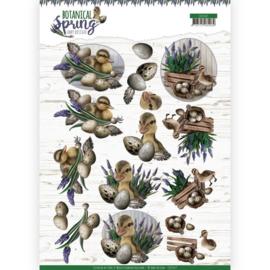 Amy Design -3D Knipvel -  Botanical Spring - Happy Ducks CD11469
