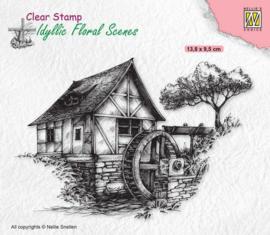 Nellies Choice clearstamp - Idyllic Floral - Watermolen IFS028