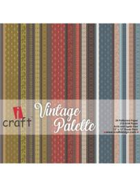 "iCraft - Vintage Palette - Paperpad 12""x12"""
