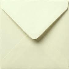 Envelop vierkant - 12,5x12,5 - Creme - 10 stuks