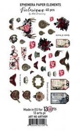 Victoriana Ephemera pack 40  elementen - 13Arts - set Victoriana