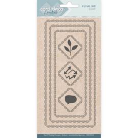 Card Deco Essentials - CDECD0101 - Slimline Dies - Slimline Leaf