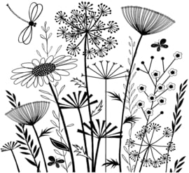 Crafty Individuals CI-385 Summer Meadow Unmounted Rubber Stamps