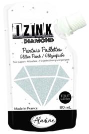 IZINK Diamond glitterverf/pasta - 80 ml, zilver