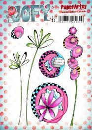 PaperArtsy Eclectica - Mounted Rubber Stamp Set -  Jofy74