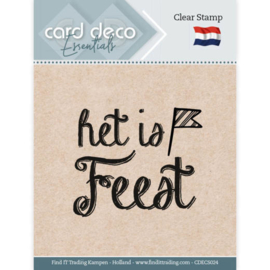Card Deco Essentials CDECS024 - Clear Stamps - Het is Feest