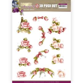 3D Push Out - SB10515 -  Precious Marieke - Romantic Roses - Pink Rose