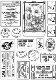 Crafty Individuals CI-469 More Vintage Ephemera Unmounted Rubber Stamps