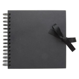 "Papermania 8 x 8"" Scrapbook - Black"