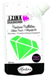 IZINK Diamond glitterverf/pasta 24 karaat- 80 ml, lichtgroen