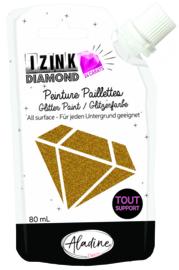 IZINK Diamond glitterverf/pasta 24 karaat- 80 ml, goud