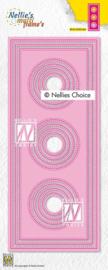 "Nellie choice MFD139 Multi Frame Dies ""Slim lines-circles"" 87,5x212,5mm"