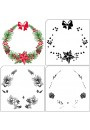 Nellie Snellen -   LCS005 Layered stamps with position edge: Xmas wreath 90x94mm