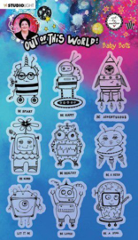 Studio Light A5 Clear Stamp ABM Out of this World nr.74