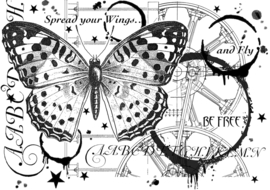 Crafty Individuals CI-517 Fly and Be Free Unmounted Rubber Stamps