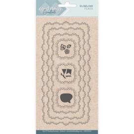 Card Deco Essentials - CDECD0106 - Slimline Dies - Slimline Flags