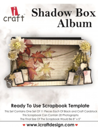 icraft - Shadow Box Album - Ready to Use Scrapbook Template.