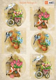 Marianne design knipvel Birds & Birdcages 2 VK9586