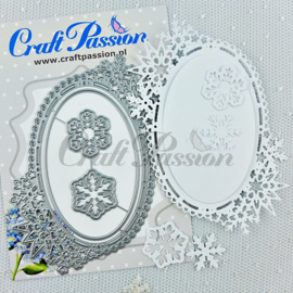 Craft passion Set of Craft Dies winter oval frame