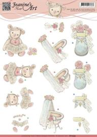 3D Knipvel - Jeanines Art - Geboorte CD10599