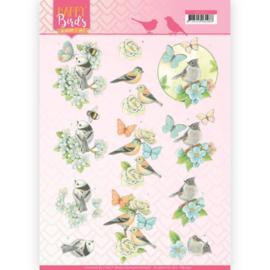 Jeanine's Art - 3D Knipvel - Happy Birds - Blauwe dans CD11321