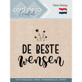 Card Deco Essentials CDECS013  - Clear Stamps - De Beste Wensen