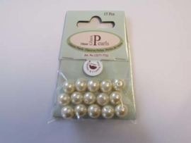 Glass Pearls, round, 10mm, Beige, 15pcs