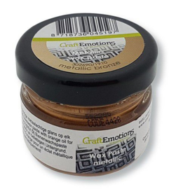 CraftEmotions Wax Paste metallic - brons 20 ml