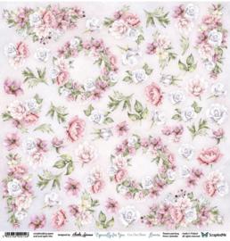 Designpapier Especially For You Flowers - 30.5x30.5 - per vel