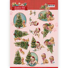 Amy Design - 3D Knipvel - Christmas Pets - Christmas Tree CD11527