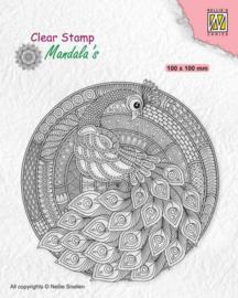 Nellies Choice Clearstamp Mandala - Pauw CSMAN004