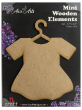 Icraft Mini wooden elements 014 (jurk)