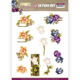 3D Push Out  -SB10518 - HJ19101- Precious Marieke - Romantic Roses - Multicolor Rose